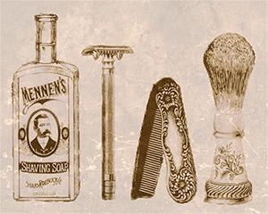 säkerhetsrakhyvel after shave rakkniv och rakborste